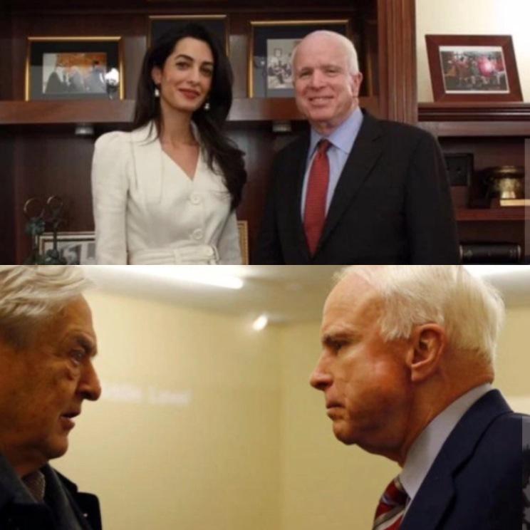 Amal, McCain/ McCain, Soros