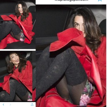 Amal crotch shot collage
