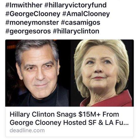 Clinton Clooney fundraiser