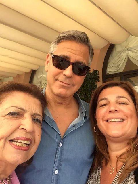 Clooney wedding candid