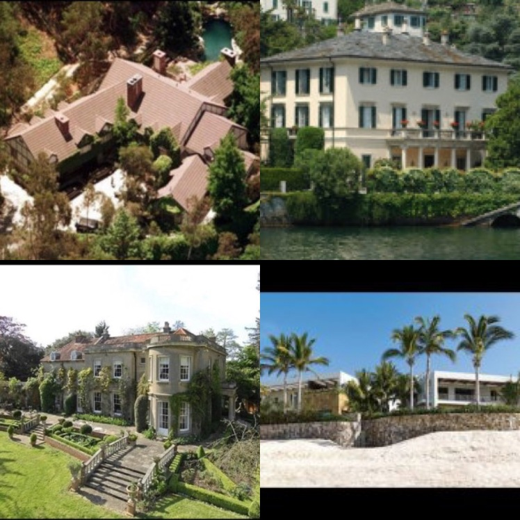 Clooneys home collage