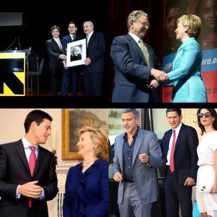 Clooneys Milliband Soros IRC