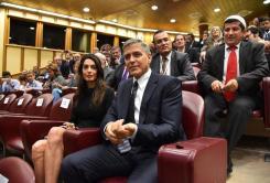 Clooneys pope Amal thrilled 2