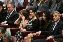 Clooneys pope Amal thrilled