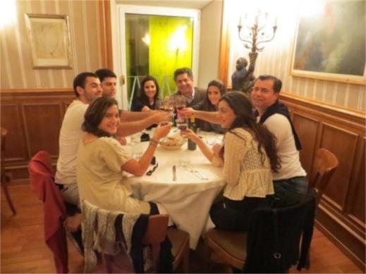 Pre Clooney Amal family dinner