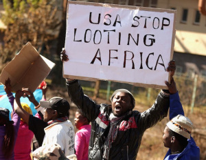 An Anti Obama March Is Held Ahead Of The President's Visit To South Africa