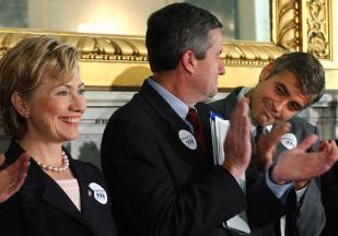 Clinton Clooney Clownshow