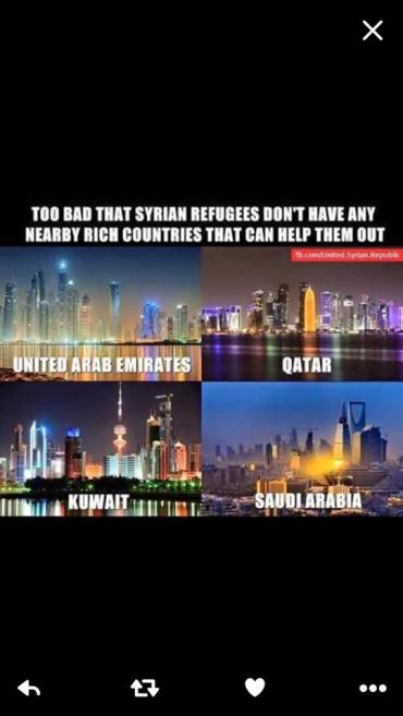 middle east ignores refugees