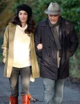 EXCLUSIVE: **STRICTLY NO WEB UNTIL 5:15PM GMT 12 JAN 2017**PREMIUM EXCLUSIVE RATES APPLY** George and Amal Clooney take a late afternoon walk near their house in Sonning with Amal's brother Samer Alamuddin.