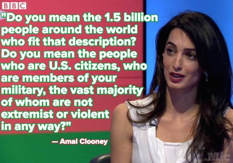 Amal Clooney Trump Xenophobic