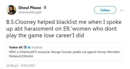 Clooney blacklisted girl