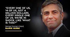 Clooney gifts millions