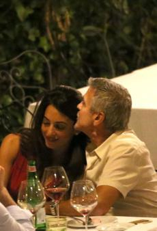 Clooney Italy August 2017 dinner