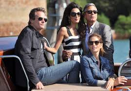 Clooney wedding arrive