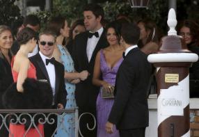 Clooney wedding Damon