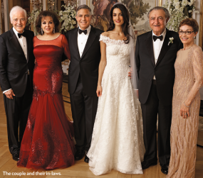 Clooney wedding family