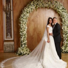 Exclusive Image: No re-use without permission. Fees must be confirmed before any publication...George Clooney and Amal Alamuddin Wedding in Venice, Italy September 27th, 2014
