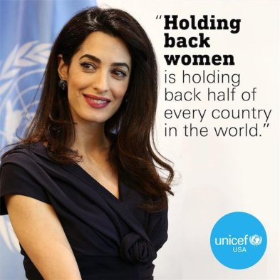 Clooney women unicef