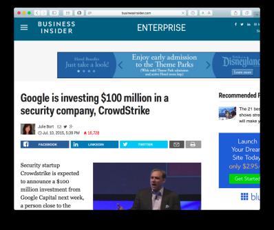 Crowdstrike Google
