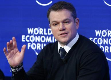 U.S. actor and co-founder of water.org Matt Damon attends the annual meeting of the World Economic Forum (WEF) in Davos, Switzerland, January 17, 2017. REUTERS/Ruben Sprich