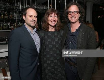 """TORONTO, ON - SEPTEMBER 12: (L-R) Head of Participant Media Jeff Skoll, producer Diane Weyermann, and director Davis Guggenheim attend Fox Searchlight's """"He Named Me Malala"""" during the 2015 International Film Festival on September 12, 2015 in Toronto, Canada. (Photo by Todd Williamson/Getty Images for Fox Searchlight)"""