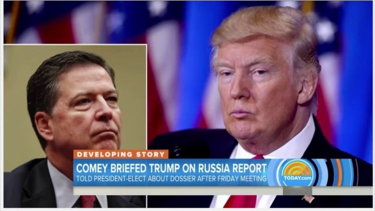 Trump briefed by Comey