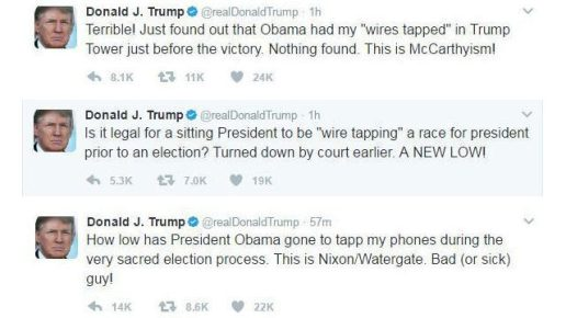 Trump March 2017 Wiretap Tweet