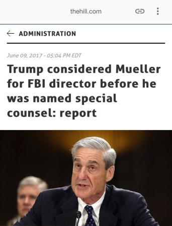 Trump Mueller FBI SC