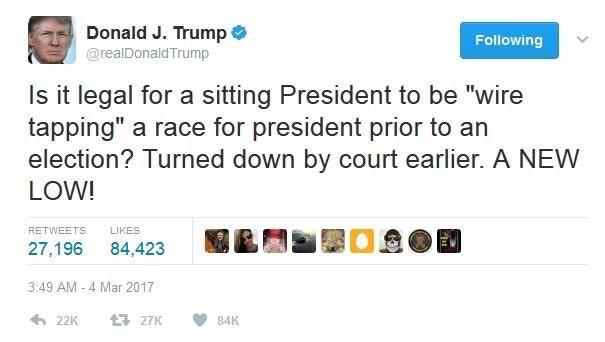 Trump tweet wiretap