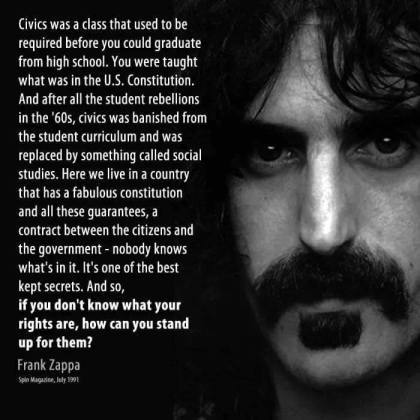 Zappa bill of rights